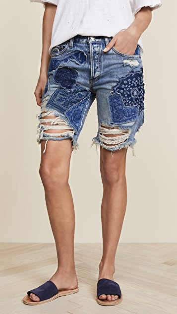 ae337d18fa Free People Heart Breaker Patched & Embroidered Shorts | SHOPBOP