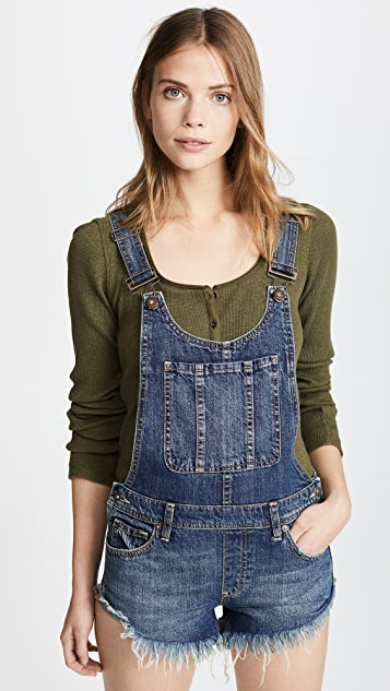 4192ffed741 Free People Summer Babe High Low Overalls
