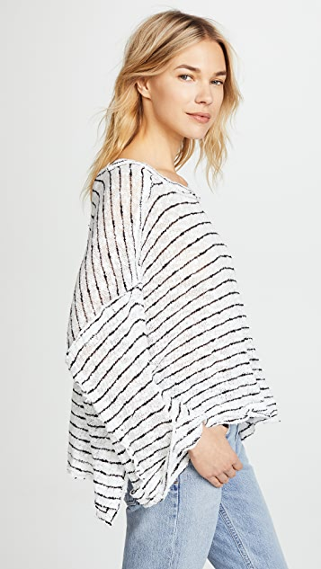 Free People Striped Island Girl Hacci Sweater