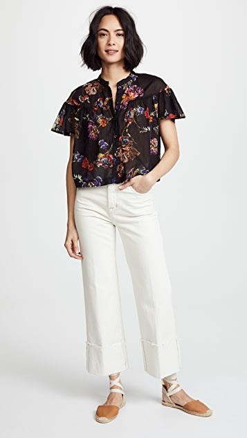 Free People Sweet Escape Buttondown Blouse