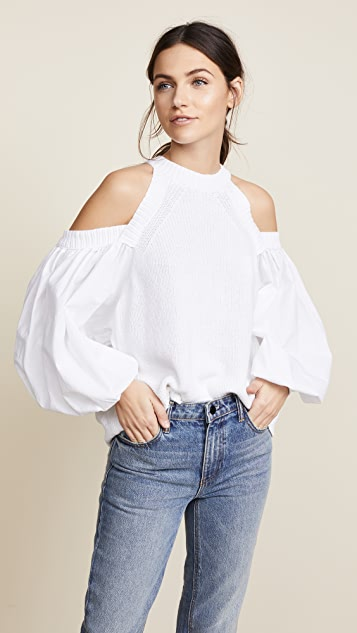 Free People Catch a Glimpse Sweater - White