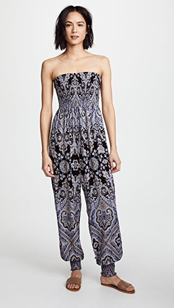 Free People Thinking of You Jumpsuit - Black Combo