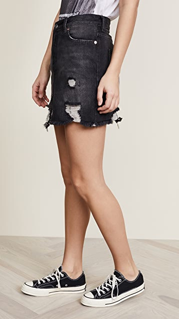 Free People Relaxed & Destroyed Skirt