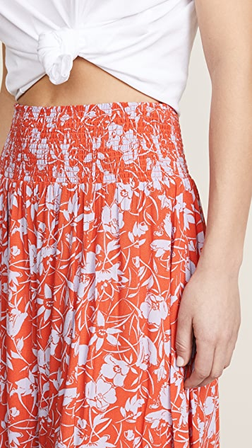 925c6cf3d0 Free People Way of the Wind Printed Midi Skirt | SHOPBOP