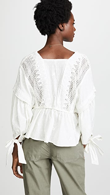 Free People Drive You Mad Blouse