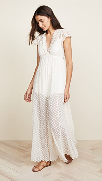 Free People Chleo Embellished Maxi  Jumpsuit