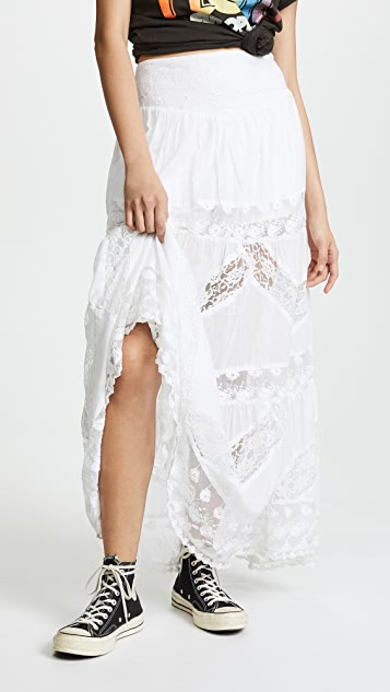 Free People Piece of My Heart Maxi Skirt