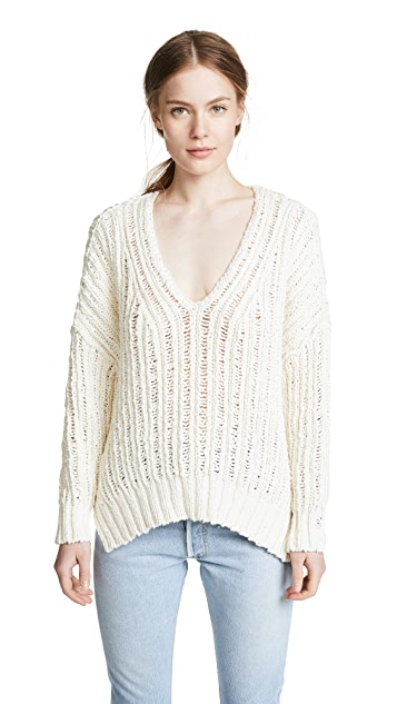 Free People Infinite V Neck Sweater