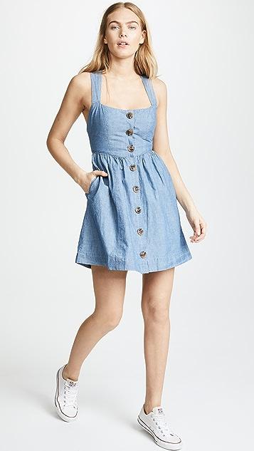 Free People Carolina Chambray Mini Dress
