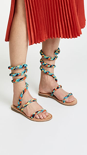 Free People Embellished Havana Gladiator Sandals