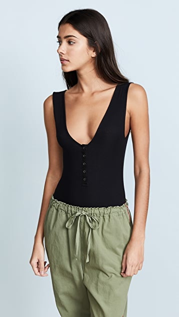 Free People Tank Me Out Tank Bodysuit