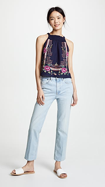 Free People Honey Pie Embellished Tank Top