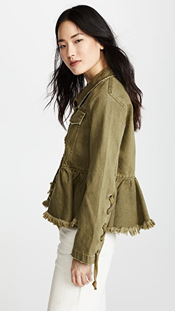 Free People Willow Denim Military Jacket