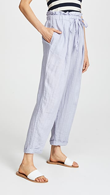 Free People Only Over You Linen Trousers