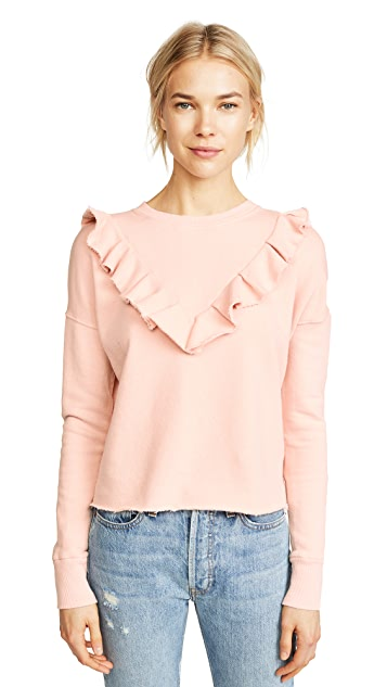 Free People Ooh La Ruffle Sweatshirt