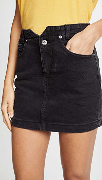 Free People She's All That Denim Miniskirt