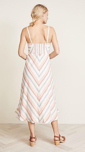 Free People Striking Striped Midi Dress