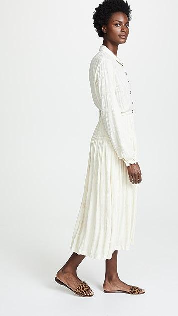 Free People Diamond Head Embroidered Midi Dress