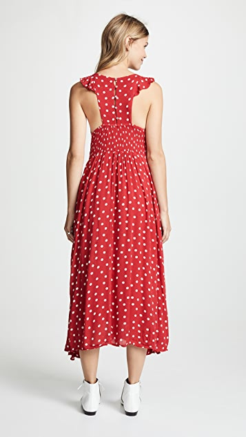 Free People Polka Dot Midi Dress
