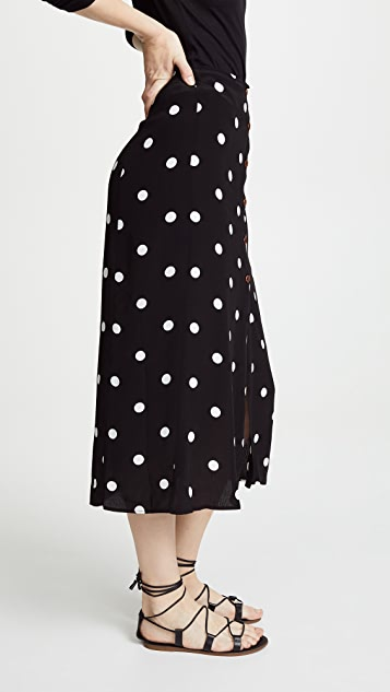 Free People Retro Love Midi Skirt
