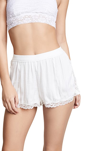Free People High Side PJ Shorts