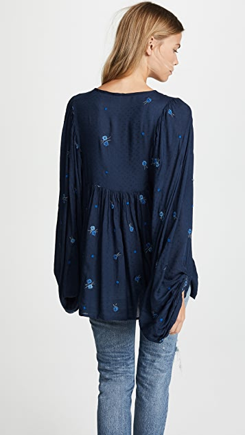 Free People Kiss From A Rose Blouse