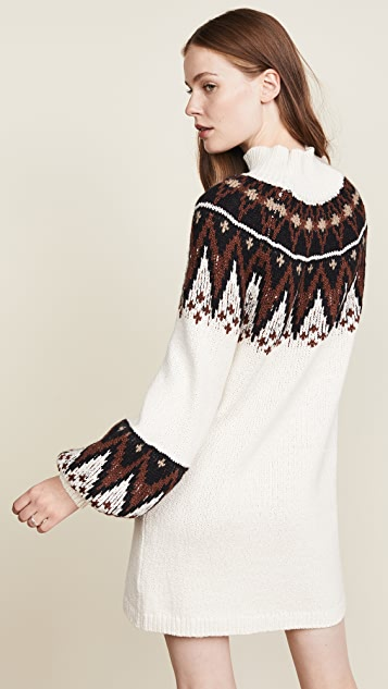 Free People Scotland Sweater Mini Dress