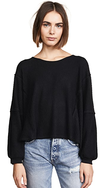Free People Lover Me Thermal Sweater