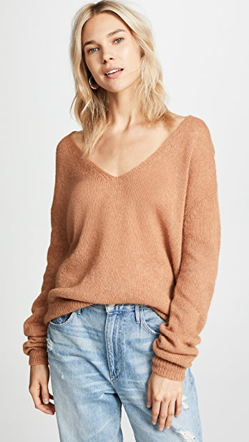 Free People Gossamer V Neck Sweater
