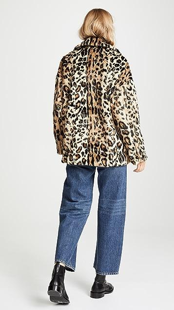 Free People Пальто Kate с леопардовым принтом