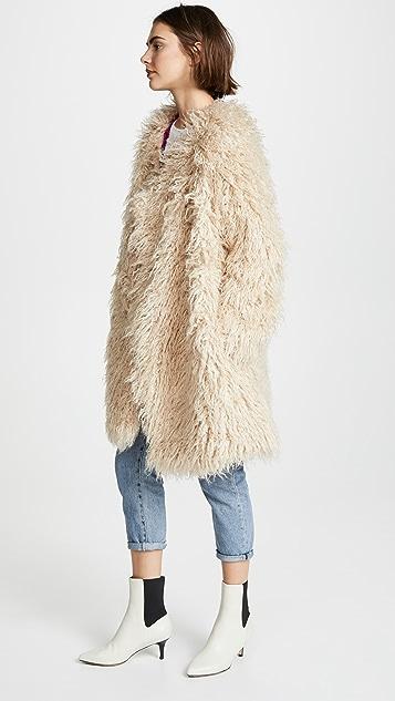 Free People Florence Faux Fur Coat