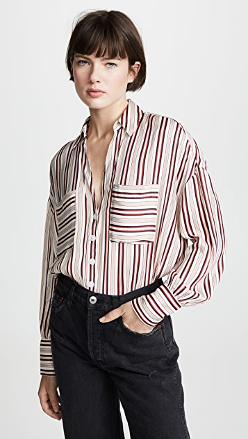 Free People Mad About You Button Down Shirt