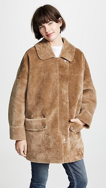 Free People Пальто Lindsay из искусственного меха