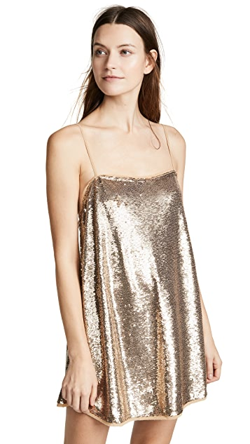 Free People Time To Shine Sequin Slip Dress