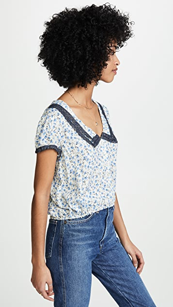 Free People Ana Printed Blouse
