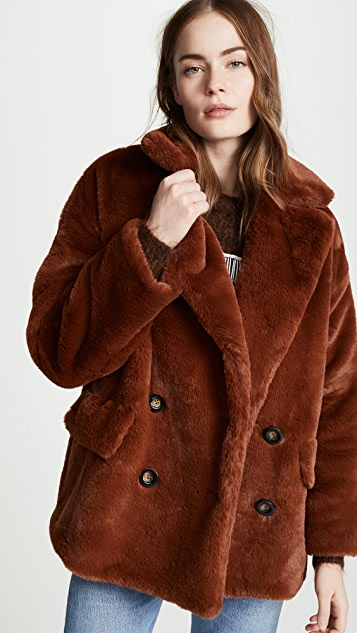 Free People Kate Faux Fur Coat