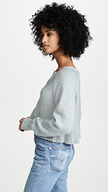 Free People Sweetheart Henley Sweater