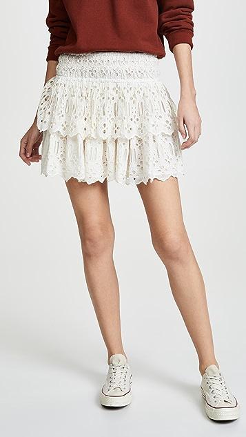 Free People Eyelet Miniskirt