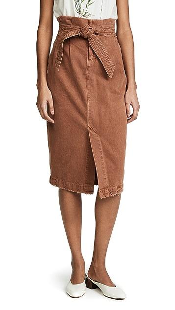 Free People Savannah Belted Skirt