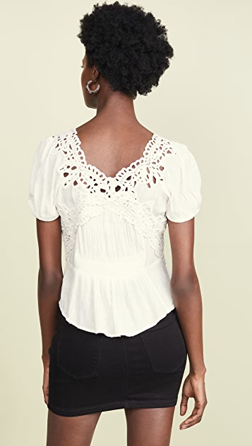 Free People Sweet Roses Blouse