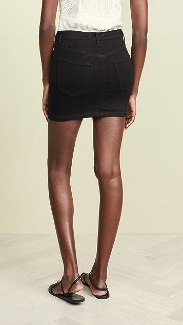 Free People Teagan Denim Skirt