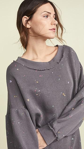 Free People Make it Count Printed Sweatshirt
