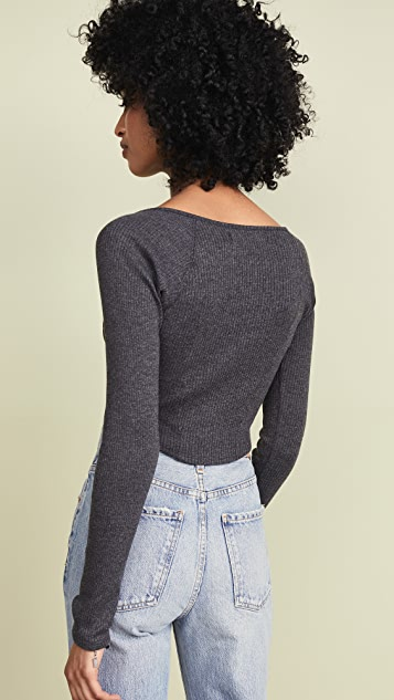 Free People August Long Sleeve Tee