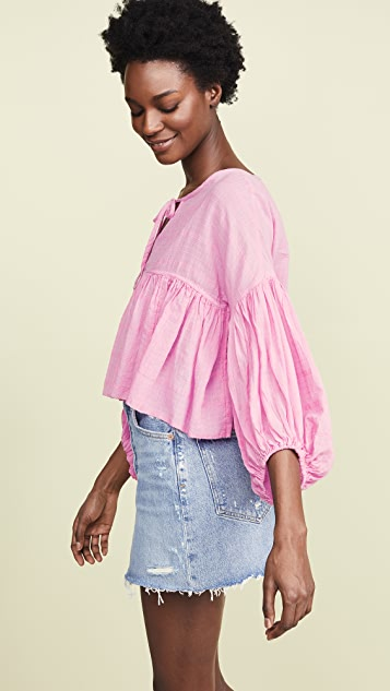 Free People Beaumont Mews Blouse