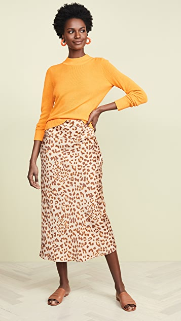 Free People Skirts Normani Bias Printed Skirt