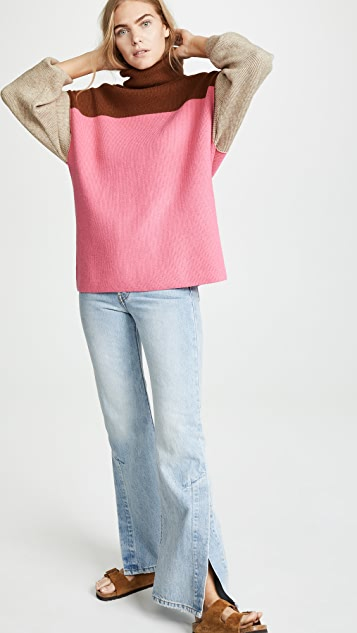 04bcaed41562 Free People Softly Structured Colorblock Sweater | SHOPBOP
