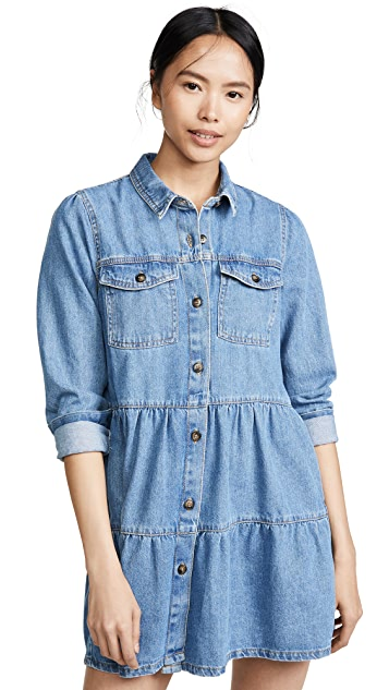 Free People Nicole Denim Shirtdress