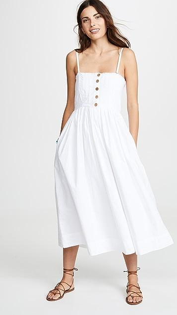 Free People Lilah Pleated Tube Dress