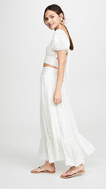 Free People Ella Shirt & Skirt Set