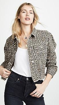Cheetah Print Denim Jacket